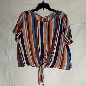 Striped Good Luck Gem blouse